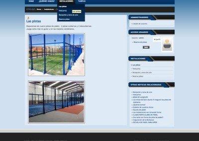 diseño web padel indoor castellon