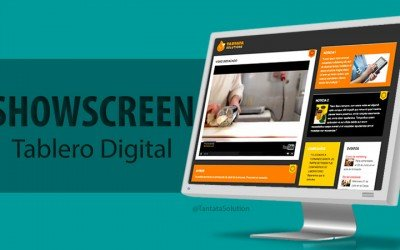 Un tablón de anuncios digital con SHOWSCREEN.