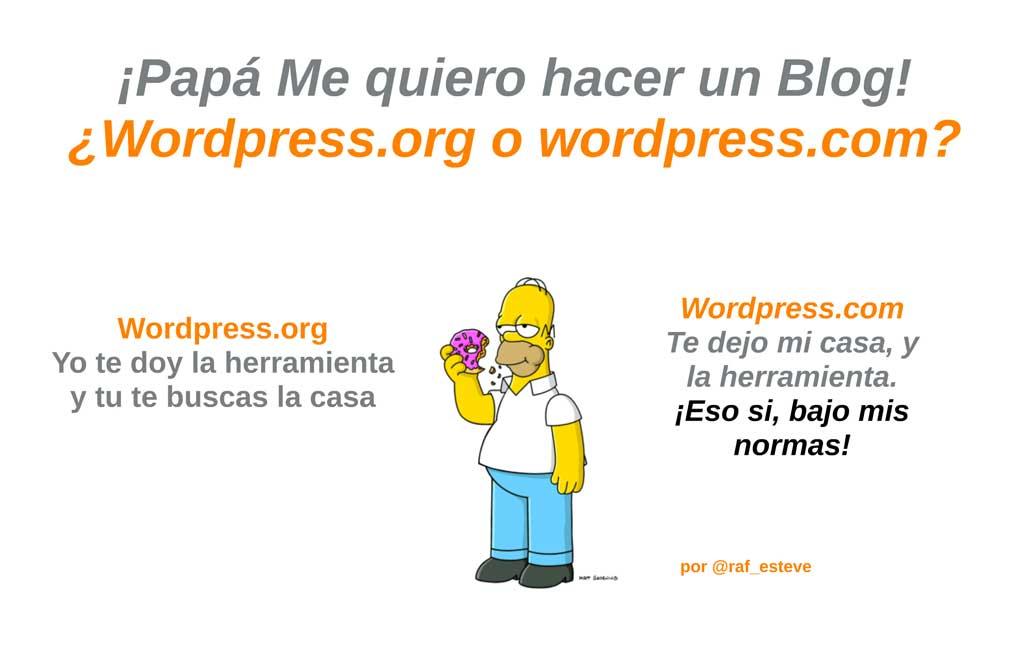 En que se diferencian WordPress.com y WordPress.org?