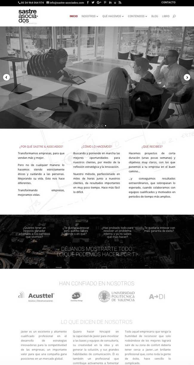 Páginas web para empresas de consultoria