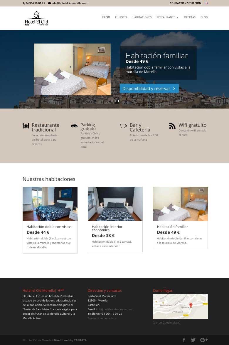 P ginas web para hoteles y hostales tantata solutions for Paginas para disenar habitaciones