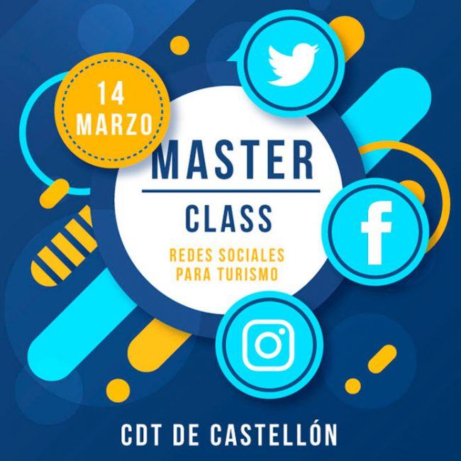 Master Class – Redes Sociales para turismo