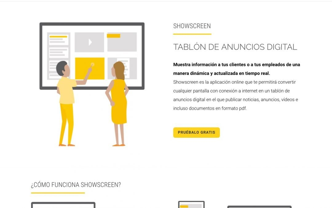Showscreen – Tablón Digital
