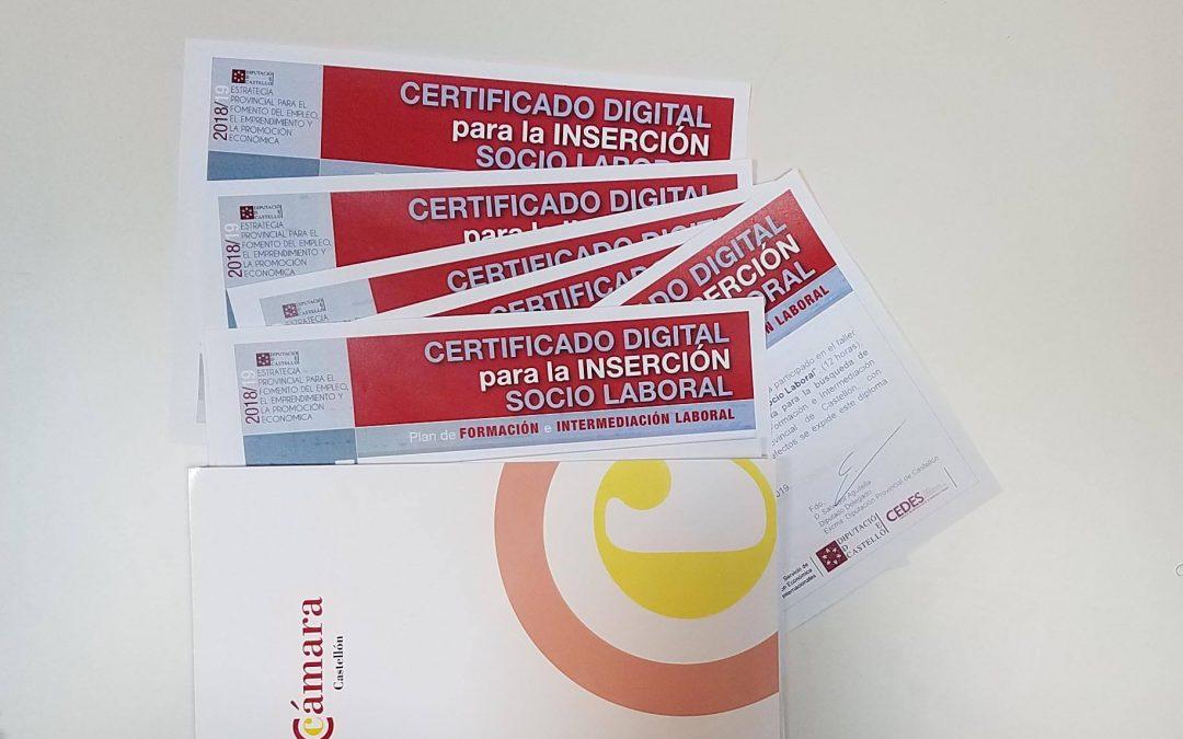 Taller de certificado digital para la inserción socio laboral